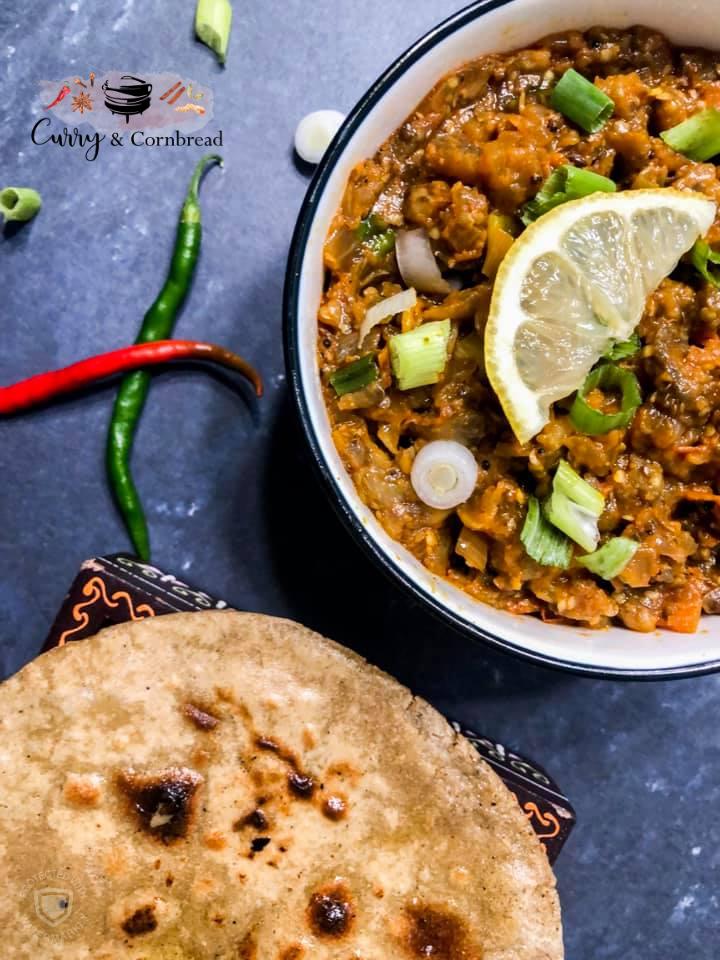 Baingan Bharta (Smoky EggplantCurry)