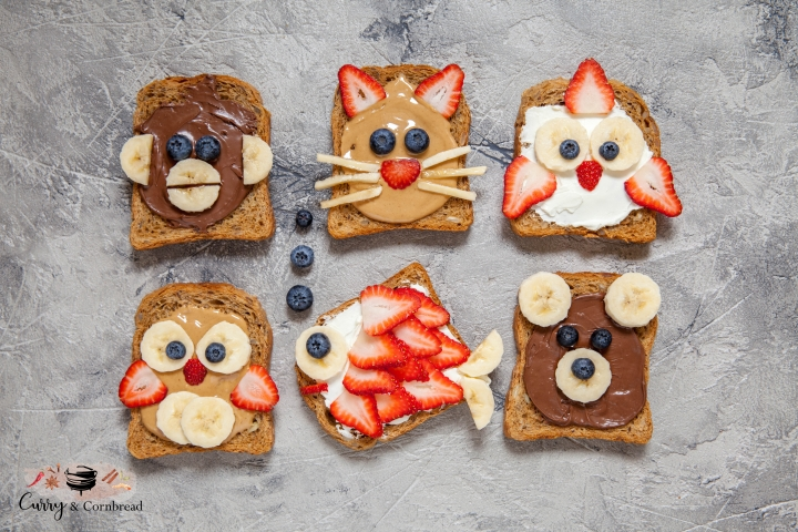 Breakfast toast for kids