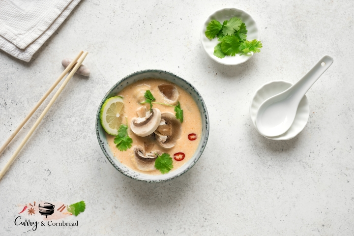 Tom Kha Soup (Vegetarian Thai Coconut Soup)