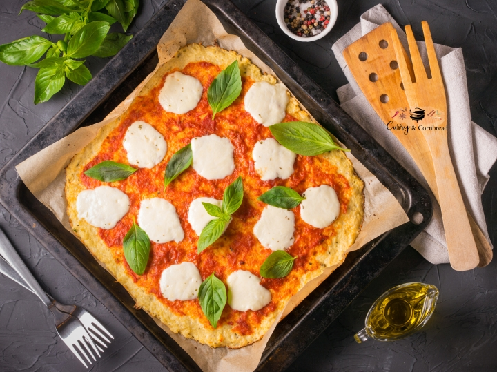 Cauliflower pizza crust (keto friendly)